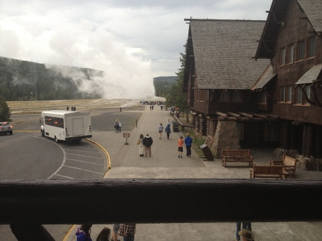 Old Faithful Bench View
